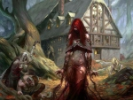 Red Head Witch And Followers