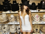 Hat Shopping Cowgirl
