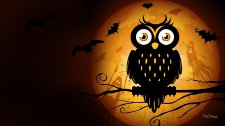Halloween Owl Moon