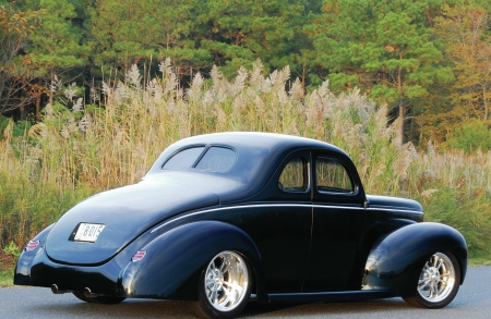 1940-Ford - Classic, Hotrod, Blue, 1940