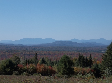 Autumn in Maine - woods, sky, Autumn, Maine, mountains, Fall