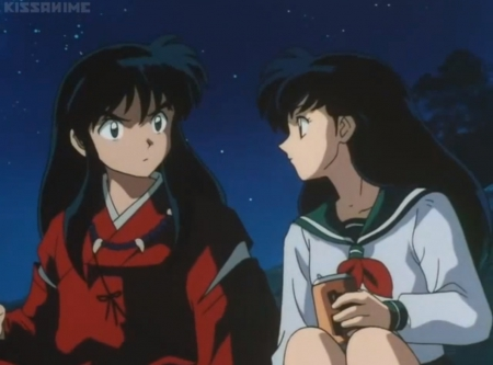 ♡ Couple ♡ - beauty, lovely, sweet, guy, male, black hair, pretty, anime couple, female, beautiful, long hair, kagome, anime girl, nice, inuyasha, anime, kagome higurashi, boy, girl, couple