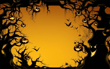 spooky halloween tree 3d and cg abstract background wallpapers