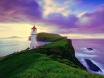 Beautiful Sky over Lighthouse