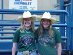 Two girls at rodeo