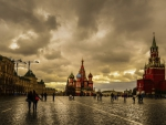 Red Square in Moscow at Dusk