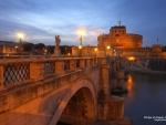 Bridge of Angels in Rome, Italy
