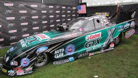 John Force Mustang Funny Car - nhra, drag race, funny car, mustang, john force, cool, ford, race car, fast