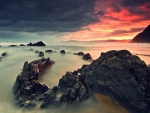 Sunset on Rocky Beach