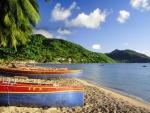 Boats on Tropical Beach
