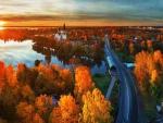 Autumn Bridge at St. Petersburg