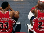 Scottie Pippen and Michael Jordan