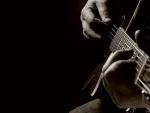 Guitar player close-up