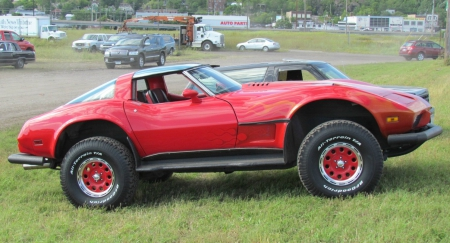 4 wheel drive Corvette - red, corvette, chevy, 4x4, custom, four wheel drive, gm, 4wd, chevrolet
