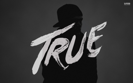 AVICII - True - title, gray, music, black and white, black, HD, beautiful, true album, high quality, true, grey, white, AVICII