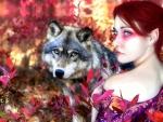 Wolf & Girl of Autumn