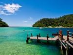 Pier to Beautiful Lagoon