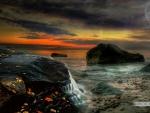 Autumn Sunset on the Beach