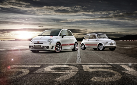 fiat 595 abarth 50th anniversary - abarth, italian, white, fiat