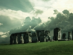 Cloudy Sky over Stonehenge