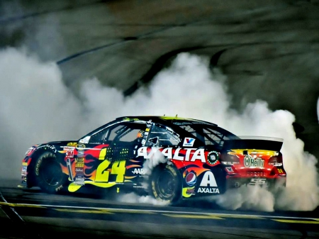 24 Jeff Gordon Burnout