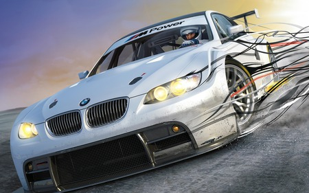 Need for speed Shift - racing game, need for speed shift, game, x-box, ps3, bmw
