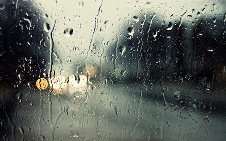 lonely in rain - cg, street, abstract, nature, day, drops, rainy, window, rain, mood