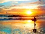 Surfer's Sunset Blues