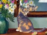 ..Kitten in the Mirror..
