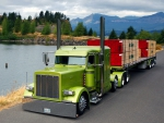 Lime Green Tractor Trailer