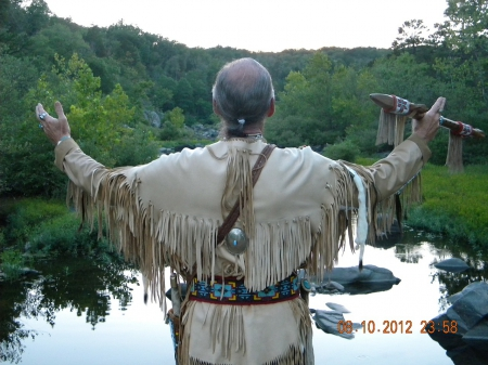 Native American - native American, courting flute, worship, ponds, trees, regalia