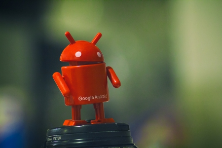 Red Android - toy, red, google, android