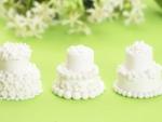 Three Small Wedding Cakes