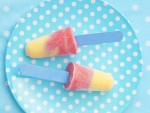Strawberry and Peach Ice Lollies