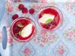 Raspberry Jelly with Vanilla Ice Cream
