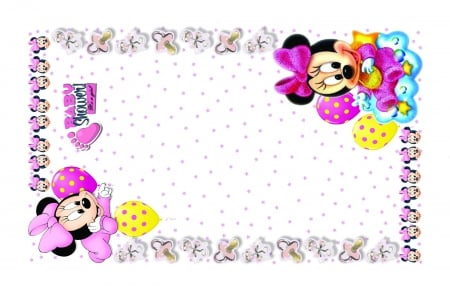 Baby Shower Minnie Mouse Theme Collages Abstract Background
