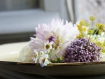 Beautiful Flowers in Plate