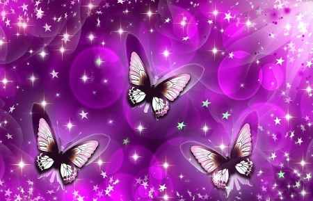 ✿⊱•╮Sparkling╭•⊰✿ - sparkling, stars, pretty, lovely, colors, love four seasons, beautiful, butterflies, creative pre-made, bliss, sparkles, purple, bright, butterfly designs, animals