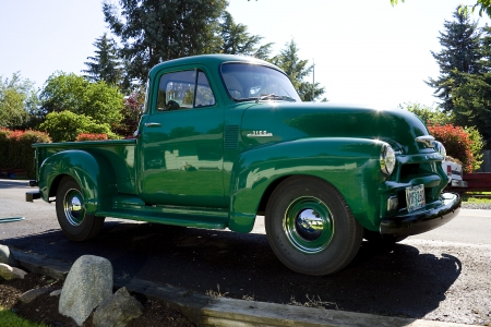 Old Green Chevy Pickup Chevrolet Cars Background Wallpapers On