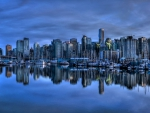 Cityscape Reflection on Harbor
