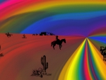 Cowgirl on the Rainbow Trail-For Jake :)