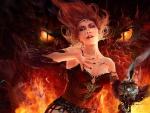 Sorceress And Dragon
