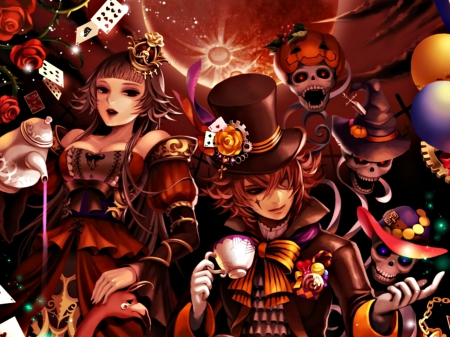 Red Queen and Mad Hatter - Other & Anime Background ...