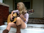 Guitar Playing Cowgirl
