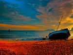 Boat on Beautiful Beach