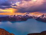Beautiful Mountains and Blue Lake