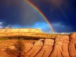Rainbow Over Vermilion Cliffs, Arizona