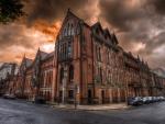 Birmingham, England Cityscape - hdr