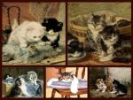 cute painted kittens