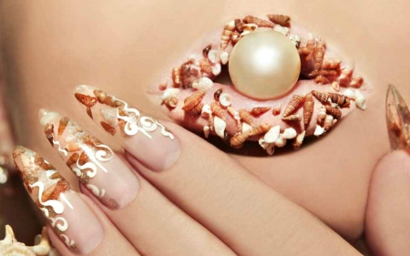 Lip And Nail Art Photography Abstract Background Wallpapers On
